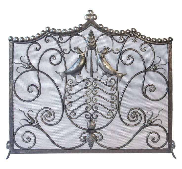Buy Darcell Iron Firescreen  by LCR Furniture & Design - Made-to-Order designer Accessories from Dering Hall's collection of Transitional Fireplace Mantels & Accessories.