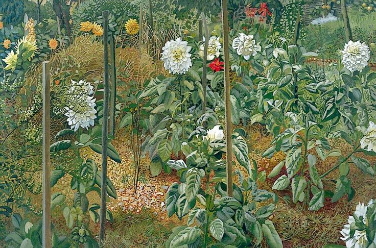 The Garden at Cookham Rise, 1946 - Sir Stanley Spencer (English,1891-1959)