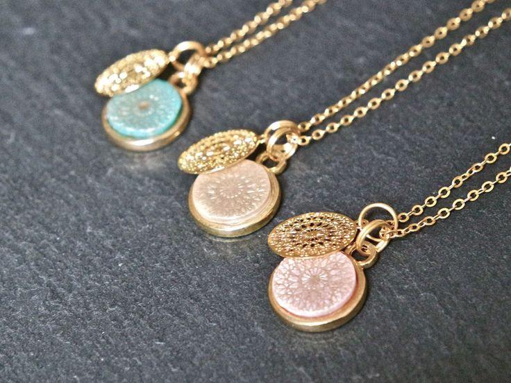 Ketten mittellang - Kette   Mandala rosé gold -  Designerstück von _IRMY_ bei DaWanda