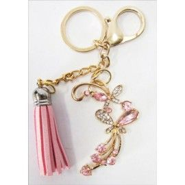 1 Pc Handmade Pink Butterfly Unique Special Rhinestone Keychain and Purse Hanger Generous Gift  This is a Handmade Beautiful Large Grade A Rhinestone Key chain and Purse Hanger.