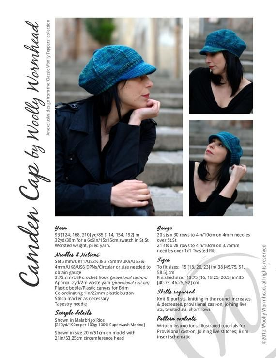 603d2376d0c Camden Cap Hat PDF knitting pattern (instructions)
