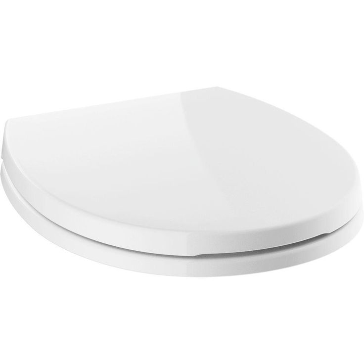 Delta Morgan Round Closed Front Toilet Seat with NoSlip Bumpers in White (Toilet Seats)