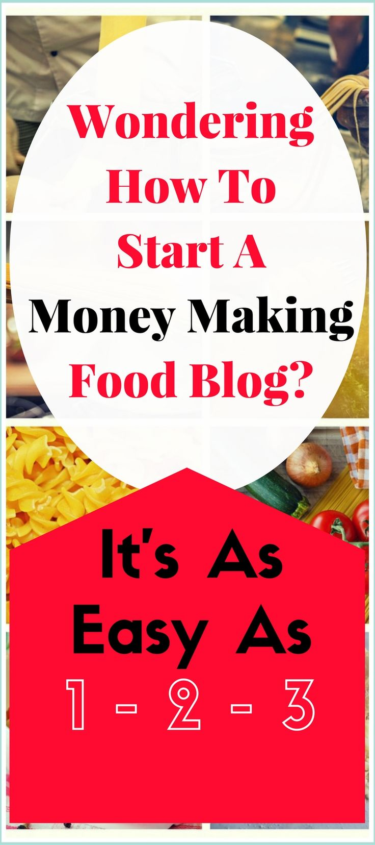 How To Start A Food Blog and Make Money: The best work from home job, ever! I started a food blog using these 3 steps and it was so easy!