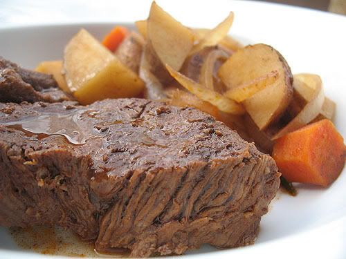 Crock Pot - Pot Roast, easy throw everything in and go recipe!