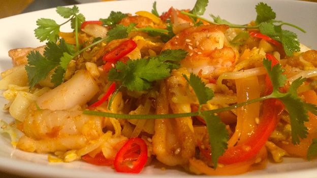 MasterChef Canada Singapore Noodle Stir-Fry with Seafood