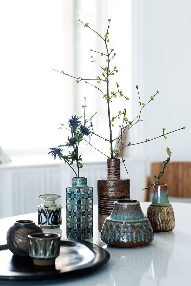 ceramic vases from Royal Copenhagen and Søholm