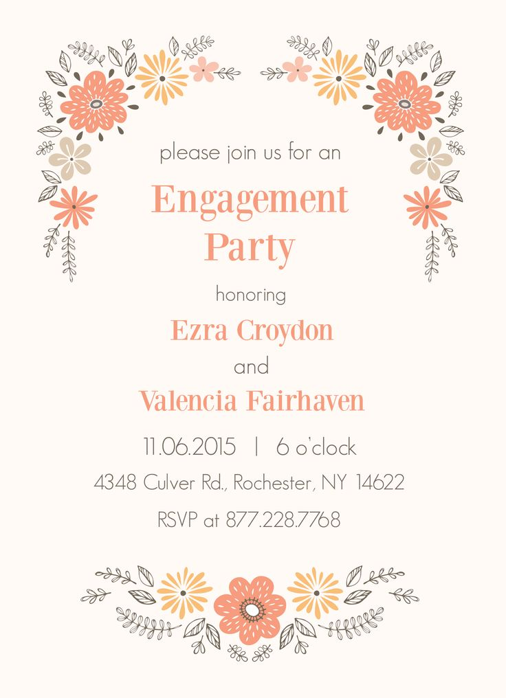 20 best Engagement Party images on Pinterest Engagement party - engagement party templates