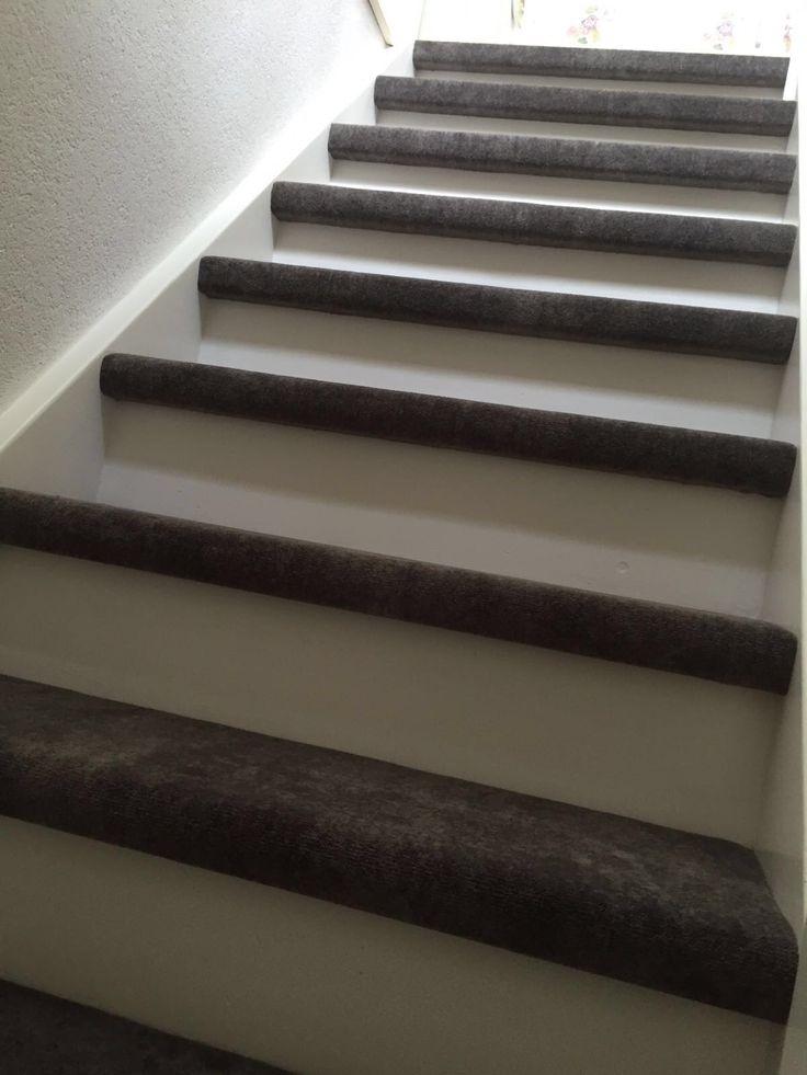 Trapbekleding betonlook tapijt van desso   trap   Pinterest   Hout, Trappen en Vloeren