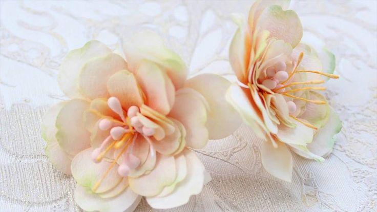 "Мастер-класс ""Цветы из бумаги тишью"""