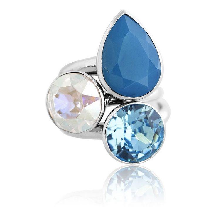 Caribbean Summer 2018 Stacker Ring Set #bling #MarisaKateDesigns #Swarovski #crystal #jewel #sterlingsilver