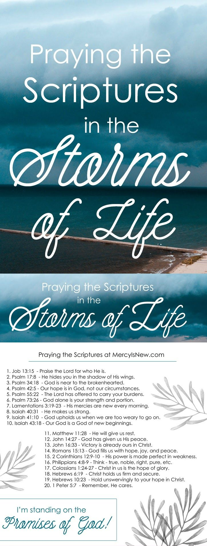 20 Verses to Pray During the Storms of Life – His Mercy is New