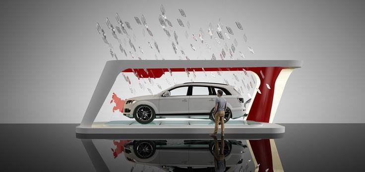 Одна из концепций дизайна выставочного стенда для автомобилей Audi #авто #дизайн #моделирование #выставочныестенды #реклама #дизайнер #тачки #проектипрование #визуализация