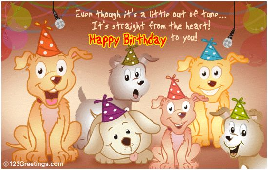 Free Singing Birthday Cards for Facebook | From All Of Us! Free Songs eCards, Greeting Cards | 123 Greetings