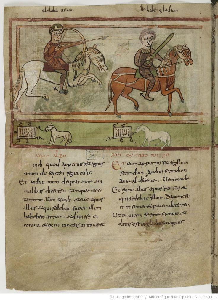 Bibliothèque municipale de Valenciennes, Ms.99 (92) , Apocalypse figurée, fol.12v