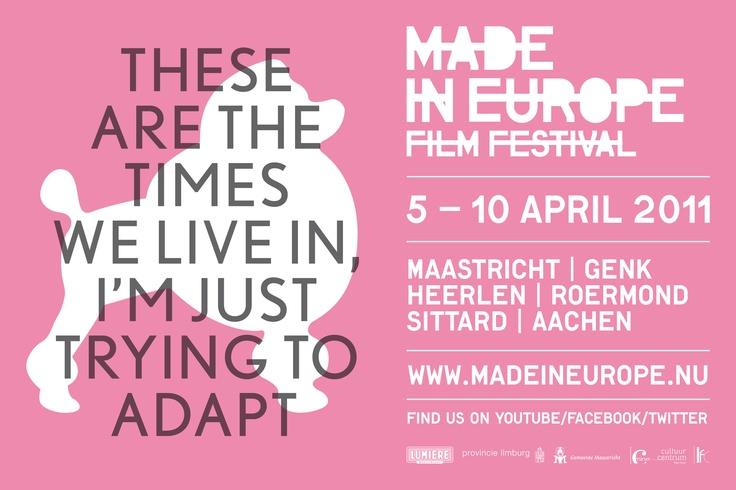 Buro Walnoot gaf de poedel een zelfbewuste rol als mascotte van het Made in Europe Film Festival en voerde de volledige communicatie van het festival. In een ontwerp van Ontwerpbureau B2B.