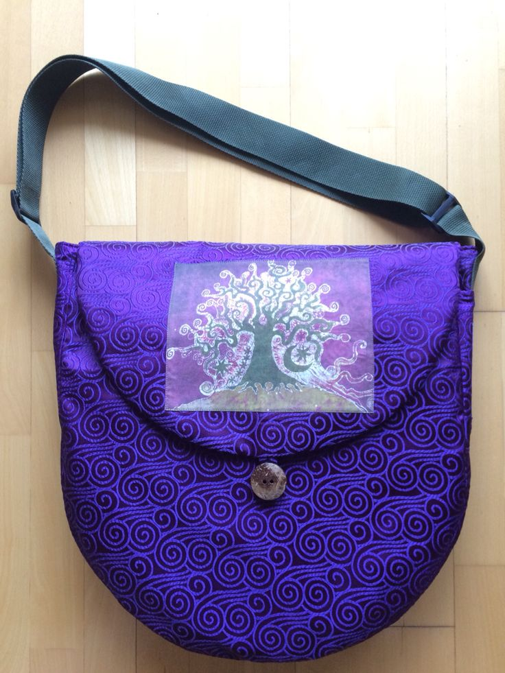 """Shamanic drum bag called Tree Magic holds a 16"""" diameter drum.  Check out HeartBeatGoods on Etsy!"""