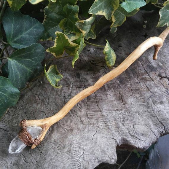 Oak Wand Wiccan Wand Magic Wand Oak Wood by SpeakingofWitchWands