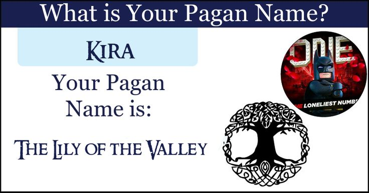 <b>Kira</b>, your pagan name connects you to the rustic basics that the Earth hides behind her veil. Your pagan name connects you to the aura of mother nature and bonds you indelibly together.  Share this with your friends and let them discover their Pagan name.