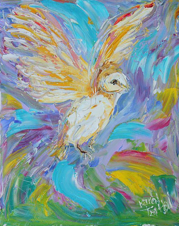 """Whimsical Little Owl"" par Karen Tarlton"