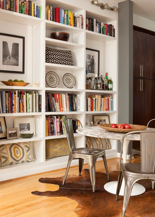 Great bookcase layout!