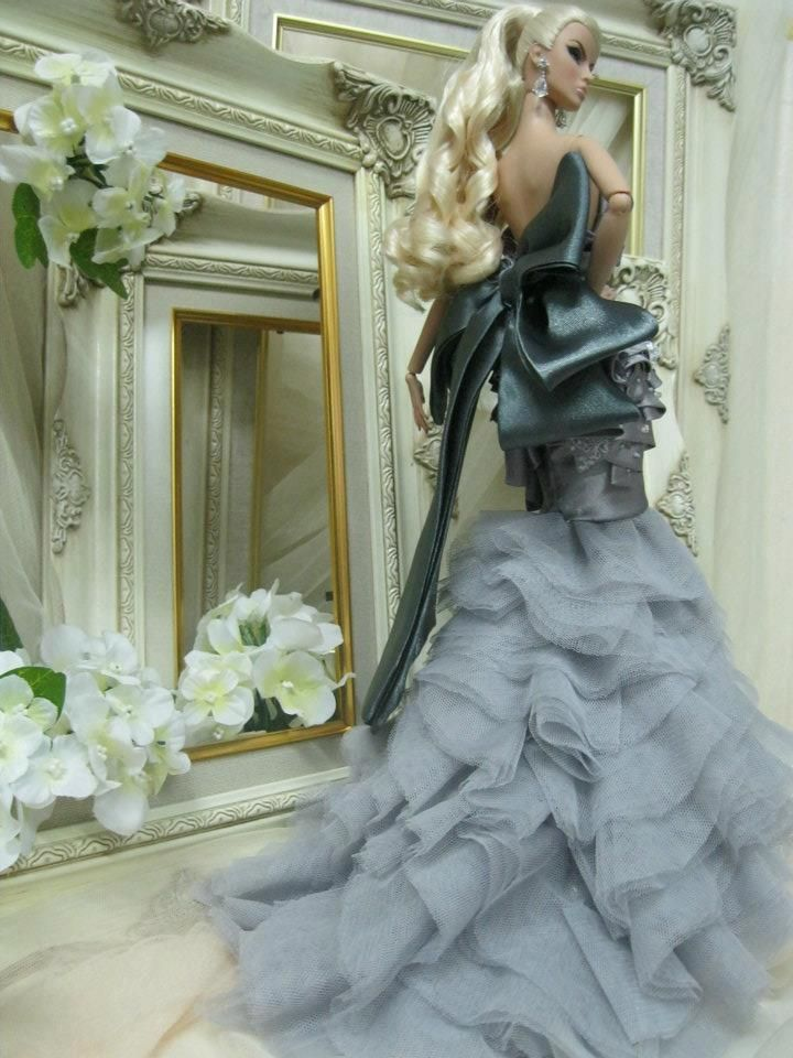 Not Barbie--Fashion Royalty doll. But gorgeous layered gown