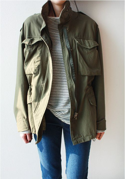 parka + stripes