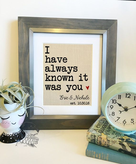 I have always known it was you  Important Dates Linen Print
