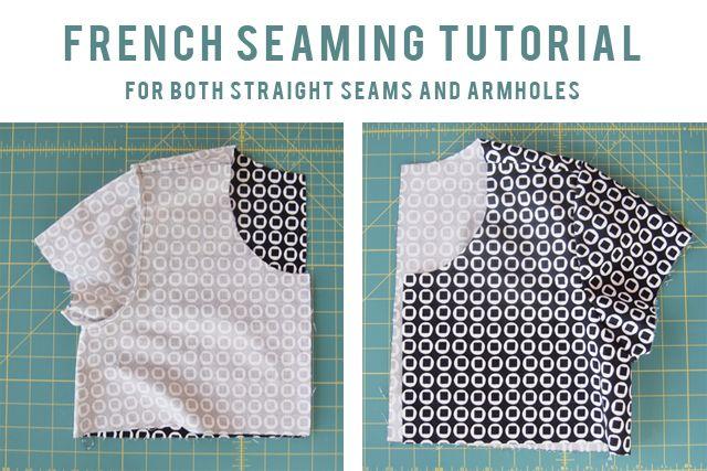french seam tutorial // grainline tutorial