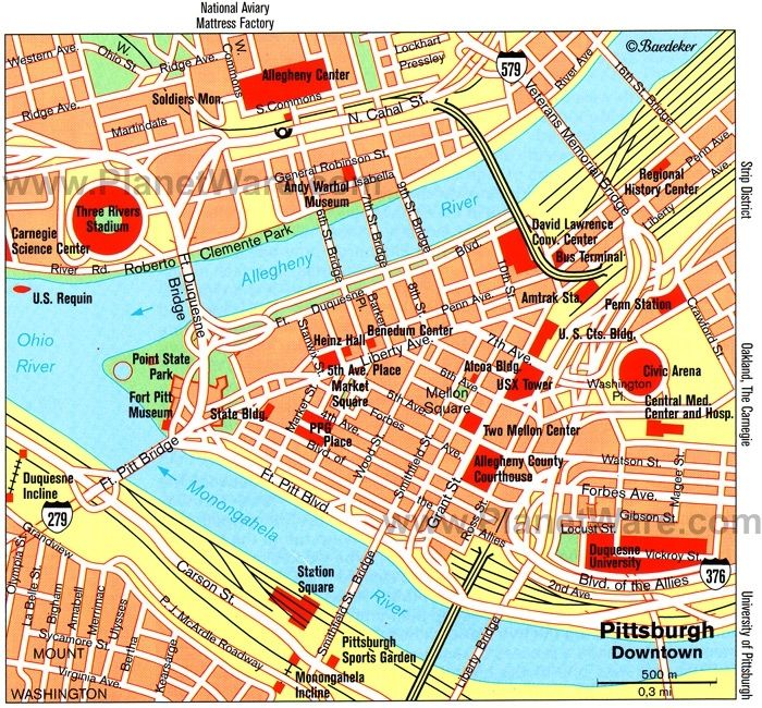 Tourist Attractions Pittsburgh Pa Maps Update 1200576 ...