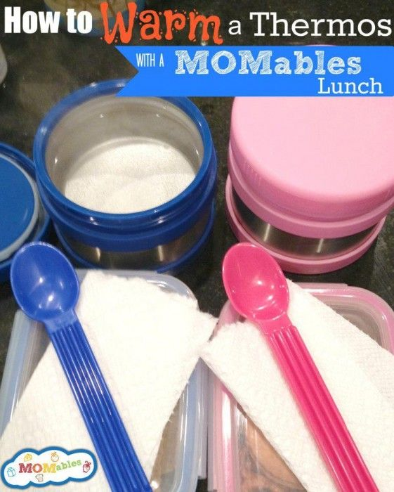 How to warm a thermos for lunch via MOMables.com