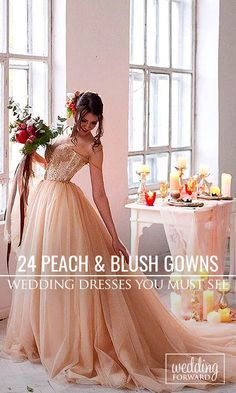 24 Stunning Peach & Blush Wedding Gowns You Must See ❤ Peach and blush is among the hottest wedding colour themes every year. See more: http://www.weddingforward.com/peach-blush-wedding-dresses/ #wedding #dress Photo: e_s_p_a_n_a via Instagram