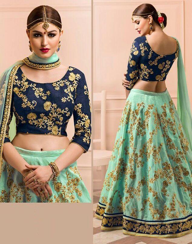 Angelic Aqua Mint #Wedding Wear #Lehenga Choli