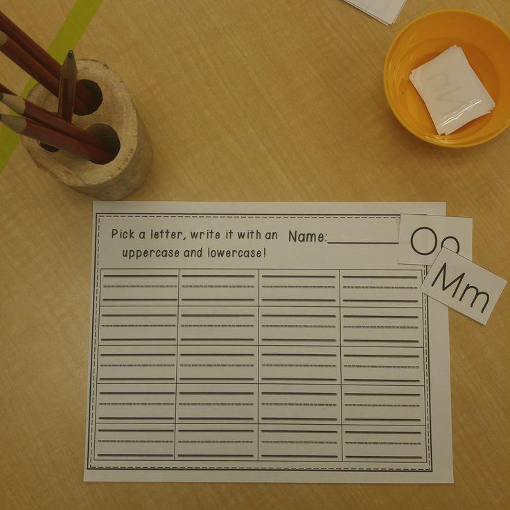 Writing Practice in Kindergarten