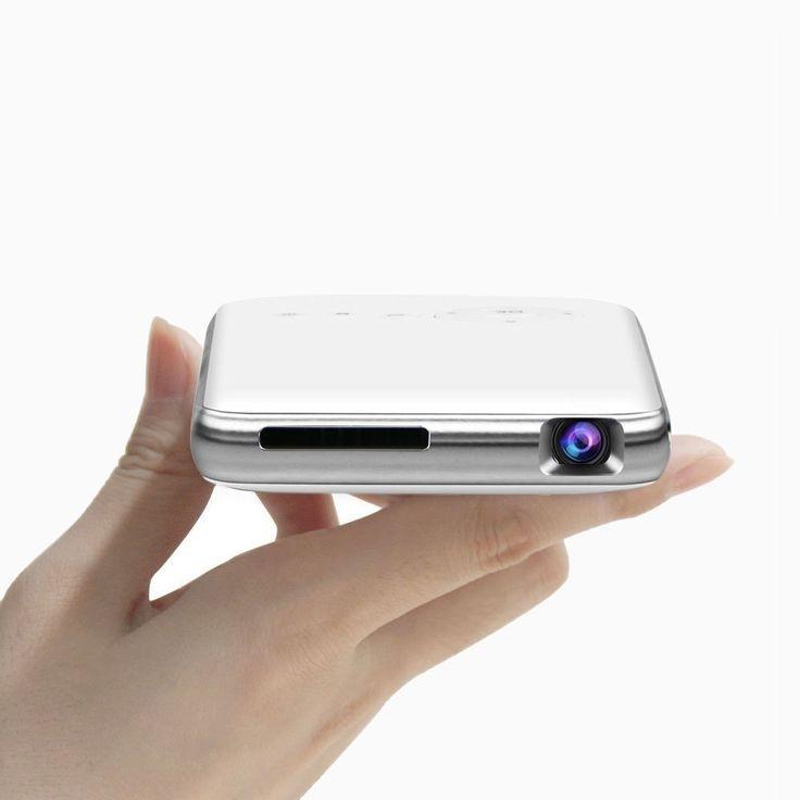 LED Mini Projecteur 300 Lumens, Portable DLP Projecteur Vidéo Home Cinéma avec Soutien 1080 P HDMI USB SD VGA SD Carte pour Home Cinéma PC Portable iPhone et Android Smartphones 32G,