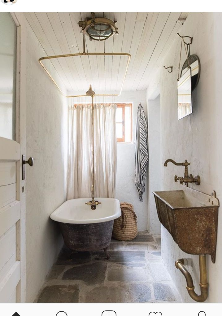 Feeding Troth Sink Very Vintage And Old Worldy But Maybe To Much Rustic Bathrooms Vintage Bathrooms Rustic Bathroom Designs
