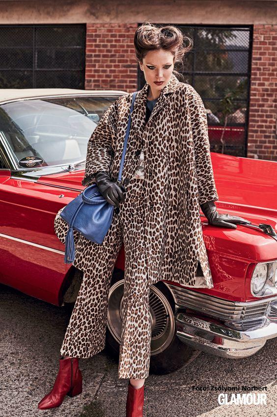 Állatmintás és még oversize is. Ilyen kabátot akarunk! Animal print plus oversize merged in one coat: we want it!