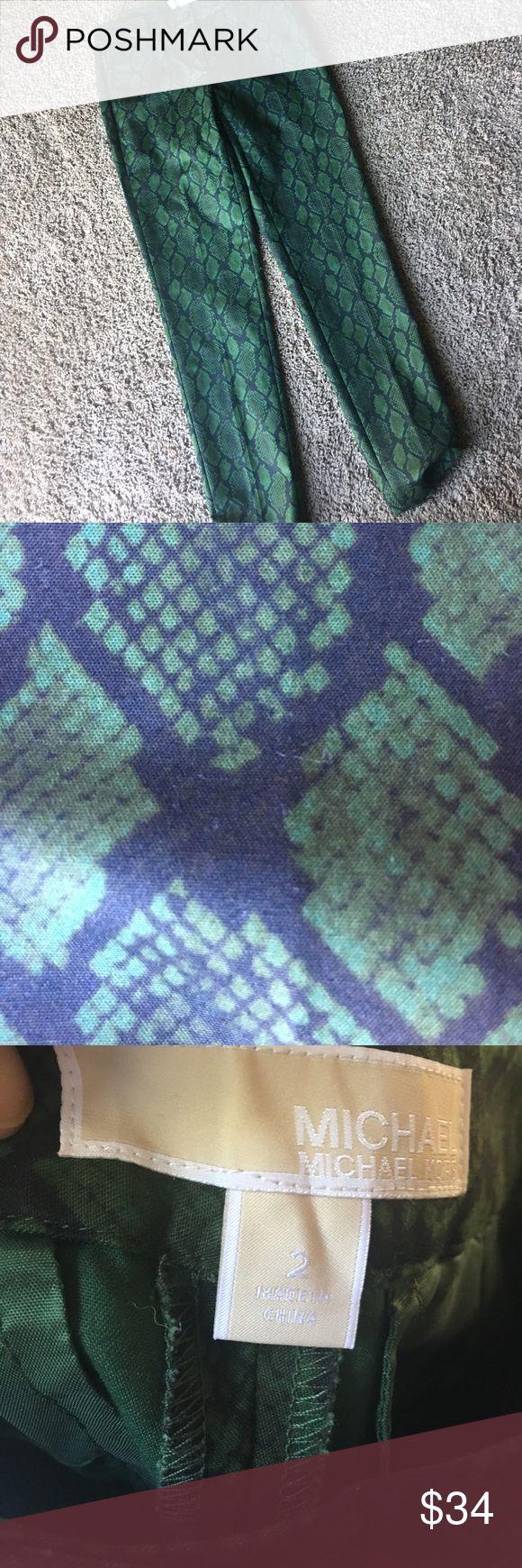 NWOT Michael Kors snake print pants NWOT. Slim leg. Ankle length KORS Michael Kors Pants Ankle & Cropped