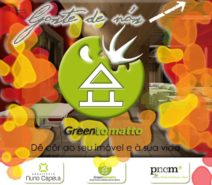 A Greentomato é o departamento de reabilitação e remodelação de imóveis da empresa PNCM - Gestão de Projetos e Obras, Lda.   Combinamos sinergias dos nossos departamentos de arquitetura, engenharia, consultadoria e marketing, resultando numa resposta mais habilitada às necessidades dos nossos clientes, proporcionando um preço final mais apelativo.  Visite-nos em www.facebook.com/greentomattopage  Email: geral.greentomatto@gmail.com  Tlm.: 914953375