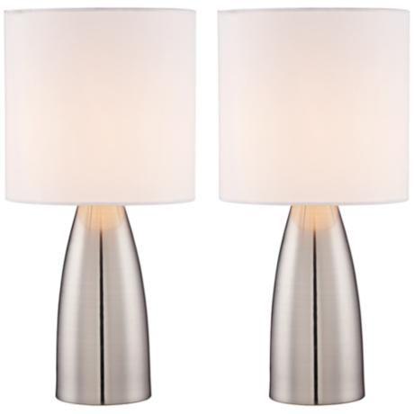Aron Metal Touch Lamp Set of 2 - #8Y357 | www.lampsplus.com