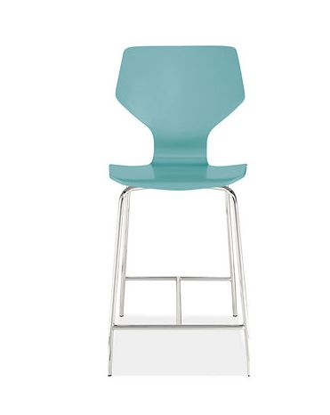 Pike Counter Stool with Chrome Base $179.00 In stock Color: Ocean Also comes w/ walnut base; cheapest stool I've seen from trusted vendor