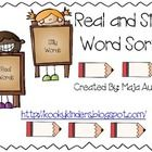 This can be used as a literacy center or in a pocket chart.  Students will sort real and nonsense words and record.  ...
