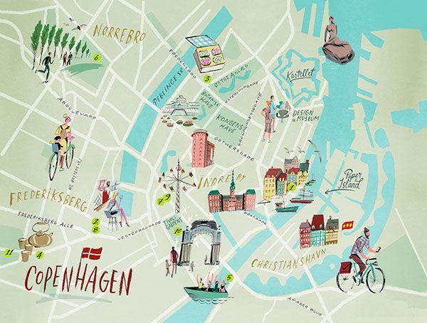 Image result for Copenhagen map