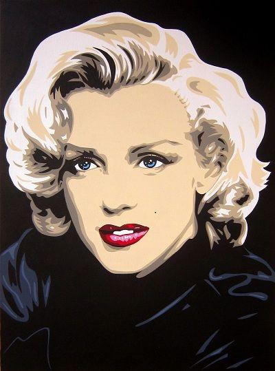 MARILYN MONROE. Cuadro realizado a mano por DOMINGO VERA POP ART. Técnica: Acrílico sobre lienzo.        73 X 54 cm.