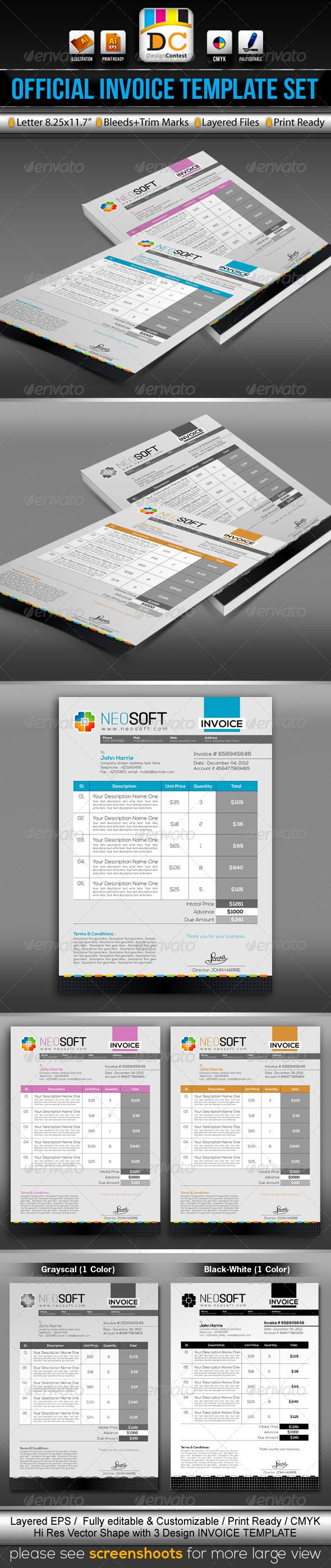 Small Business Invoice Software Free Pdf The  Best Freelance Invoice Template Ideas On Pinterest  Recipient Created Tax Invoice with Self Employed Invoice Template Uk Neosoftofficial Invoicecash Memo Template Set  Vector Eps Green Id  House Cleaning Invoice Word