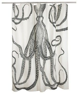 Thomas Paul Shower Curtain - Octopus eclectic shower curtains