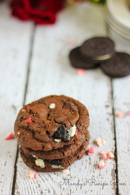 chocolate peppermint + oreo cookies   cookies   Pinterest