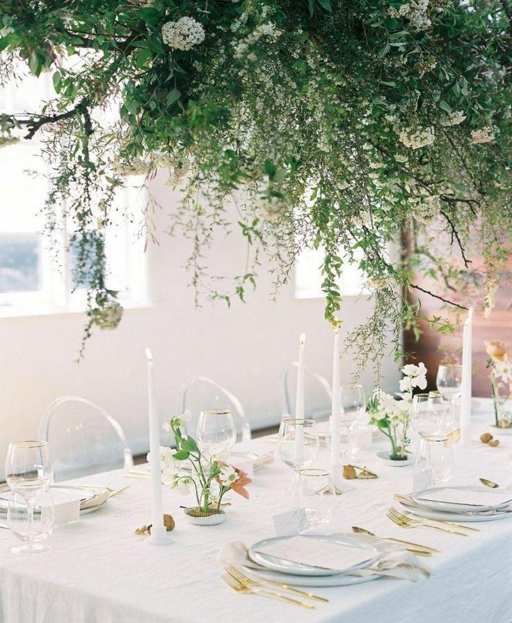 hanging florals in 2020 | Minimalist wedding decor, Modern ...