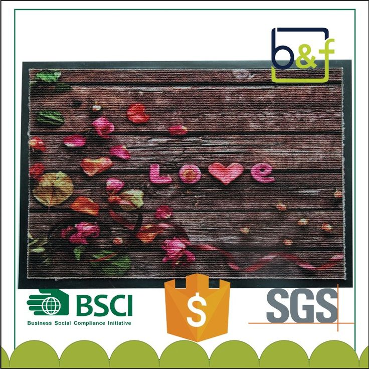Competitive Price Polyester Surface PVC Backing Custom Door Mat