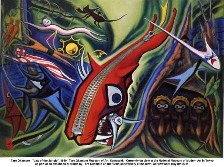 Taro Okamoto (Japanese, 1911-1996). Law of the Jungle, 1950.