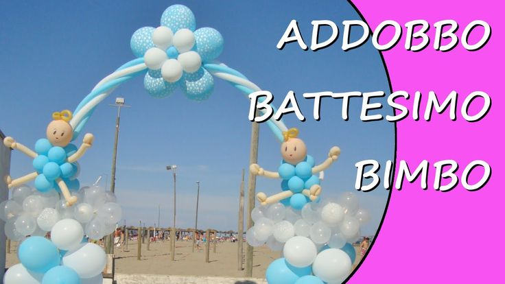 Decorate with balloons for the baptism of a child #baptism #Christening #BabyShower
